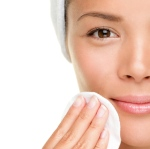 Skin Care Woman Removing Makeup